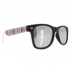 Okulary Wayfarery nerdy AZTECA lustrzanki