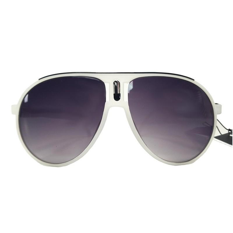 Okulary przeciwsłoneczne AVIATOR NEON - białe