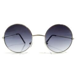 Okulary okrągłe LENONKI - srebrne