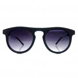 Okulary okrągłe LENONKI BLACK matowe