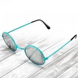 Okulary okrągłe LENONKI lustrzanki - miętowe