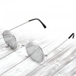 Okulary okrągłe LENONKI lustrzanki - srebrne