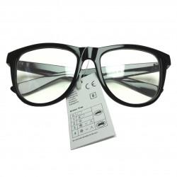 Okulary zerówki NERD czarne