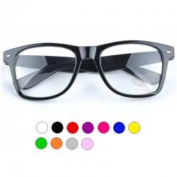 Okulary ZERÓWKI kujonki wayfarery nerdy - przezroczyste szkła
