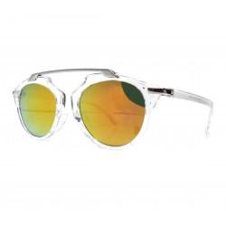 Okulary przeciwsłoneczne damskie GLAM lustrzanki czerwone