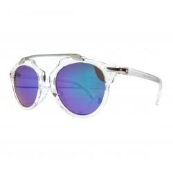 Okulary przeciwsłoneczne damskie GLAM lustrzanki zielone