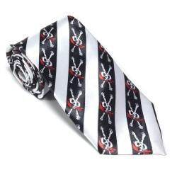 Krawat imprezowy PIRAT śledź ze wzorem