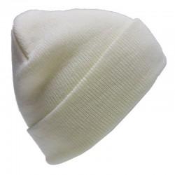 Czapka krasnal BEANIE - biała off white