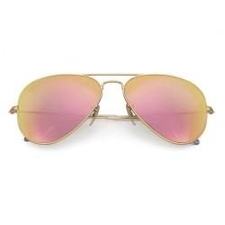 Okulary pilotki AVIATOR REVO różowe lustrzanki